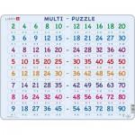 Larsen-AR17 Puzzle Cadre - Apprendre à Compter : Tables de Multiplications