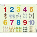 Larsen-AR3 Puzzle Cadre - Apprendre à Compter : Les Chiffres de 1 à 10