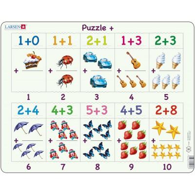 Larsen-AR4 Puzzle Cadre - Apprendre à Compter : L'Addition