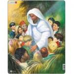 Larsen-C5 Puzzle Cadre - Jésus avec les Enfants