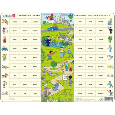 Larsen-EN11-GB Puzzle Cadre - Apprendre l'Anglais 11 : Les Verbes irréguliers (en Anglais)