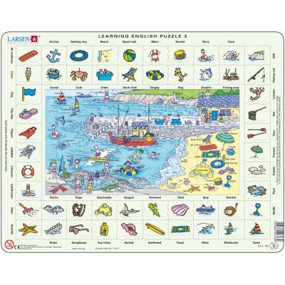 Larsen-EN3-GB Puzzle Cadre - Apprendre l'Anglais 3 : Le Bord de Mer (en Anglais)