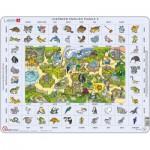 Larsen-EN5-GB Puzzle Cadre - Apprendre l'Anglais 5 : Les Animaux (en Anglais)