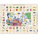 Larsen-EN6-GB Puzzle Cadre - Apprendre l'Anglais 6 : L'Ecole (en Anglais)