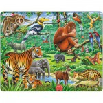 Larsen-FH24 Puzzle Cadre - Les Animaux de la Jungle