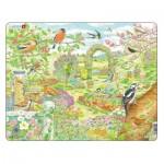 Larsen-FH37 Puzzle Cadre - Oiseaux et fleurs