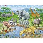 Larsen-FH9 Puzzle Cadre - Les Animaux de la Savane Africaine
