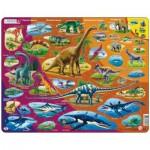 Larsen-HL1-RU Puzzle Cadre - Dinosaures (en Russe)