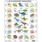 Larsen-HL9-DE Puzzle Cadre - Dinosaures (en Allemand)
