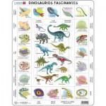 Larsen-HL9-ES Puzzle Cadre - Dinosaures (en Espagnol)