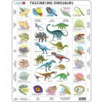Larsen-HL9-GB Puzzle Cadre - Dinosaures (en anglais)