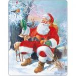 Larsen-JUL7 Puzzle Cadre - Le Père Noël et ses Animaux