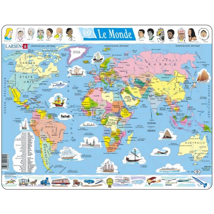 Puzzle Cadre - Carte du Monde (en Français)