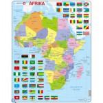 Larsen-K13-DE Puzzle Cadre - Carte de l'Afrique (en Allemand)