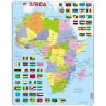 Larsen-K13-GB Puzzle Cadre - Carte de l'Afrique (en Anglais)