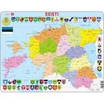 Larsen-K14-EE Puzzle Cadre - Carte de l'Estonie (en Estonien)