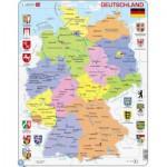 Larsen-K21-DE Puzzle Cadre - Carte de l'Allemagne (en Allemand)