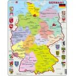 Larsen-K21-GB Puzzle Cadre - Carte de l'Allemagne (en Anglais)