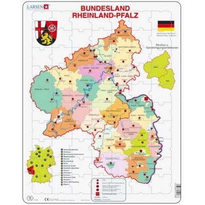 Larsen-K26-DE Puzzle Cadre - Bundesland : Rheinland-Pfalz (en Allemand)