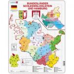 Larsen-K28-DE Puzzle Cadre - Bundesland : Hamburg and Schleswig-Holstein (en Allemand)