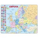 Larsen-K2W-RU Puzzle Cadre - Carte de l'Europe en Russe