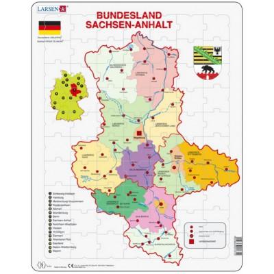 Larsen-K31-DE Puzzle Cadre - Bundesland : Sachsen-Anhalt (en Allemand)
