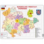 Larsen-K33-DE Puzzle Cadre - Bundesland : Freistaat Thüringen (en Allemand)