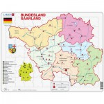 Larsen-K35 Puzzle Cadre - Bundesland : Saarland (en Allemand)