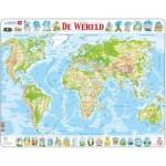Larsen-K4-NL Puzzle Cadre - De Wereld (en Hollandais)