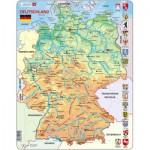 Larsen-K40-DE Puzzle Cadre - Carte de l'Allemagne (en Allemand)
