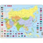Larsen-K44-GB Puzzle Cadre - Carte de l'Asie (en Anglais)