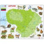 Larsen-K47-LT Puzzle Cadre - Carte de la Lituanie (en Lituanien)
