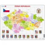 Larsen-K48-CZ Puzzle Cadre - Carte de la République Tchèque (en Tchèque)