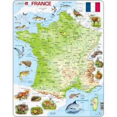 Larsen-K49-FR Puzzle Cadre - Carte de la France