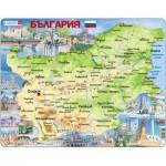Larsen-K52-BG Puzzle Cadre - Carte de la Bulgarie (en Bulgare)