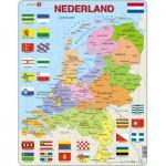 Larsen-K53-NL Puzzle Cadre - Carte des Pays-Bas (en Hollandais)