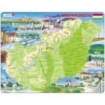 Larsen-K60 Puzzle Cadre - Carte de la Hongrie (en Hongrois)