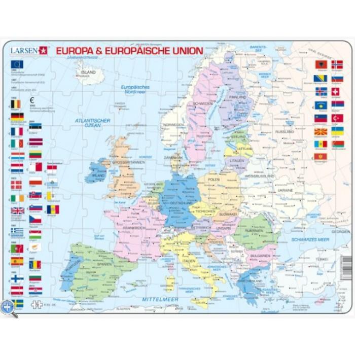 Puzzle Cadre - Carte de l'Europe (en Allemand)