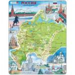 Larsen-K64-RU Puzzle Cadre - Carte de la Russie de l'Ouest (en Russe)