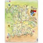 Larsen-K65-DE Puzzle Cadre - Carte de la Bavière (en Allemand)