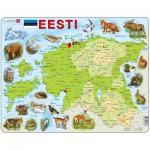 Larsen-K66-EE Puzzle Cadre - Carte de l'Estonie (en Estonien)