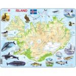 Larsen-K7-IS Puzzle Cadre - Carte de l'Islande (en Islandais)