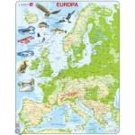 Larsen-K70-DE Puzzle Cadre - Carte de l'Europe (en Allemand)
