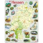 Larsen-K74-DE Puzzle Cadre - Bundesland : Hessen (en Allemand)