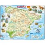 Larsen-K84-ES Puzzle Cadre - Carte de l'Espagne (en Espagnol)
