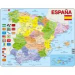 Larsen-K85-ES Puzzle Cadre - Carte de l'Espagne (en Espagnol)
