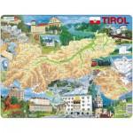Larsen-K86 Puzzle Cadre - Carte du Tirol  (en Autrichien