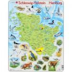 Larsen-K87-DE Puzzle Cadre - Schleswig Holstein / Hamburg (en Allemand)