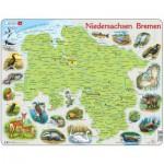 Larsen-K88-DE Puzzle Cadre - Niedersachsen / Bremen (en Allemand)