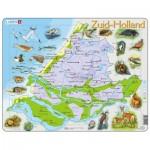 Larsen-K90-NL Puzzle Cadre - Carte des Pays-Bas (en Hollandais)